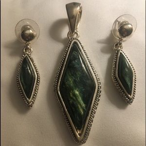 Jewelry - Turquoise pendant and earring set